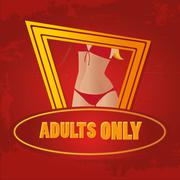 adults only background design - stock illustration