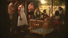 1950's & 60's  vintage, Family party Stock Footage