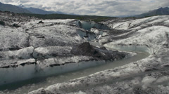 Meltwater Channel Matanuska Glacier - stock footage