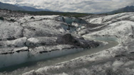 Stock Video Footage of Meltwater Channel Matanuska Glacier