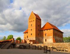 Castle of trakai, lithuania Stock Photos