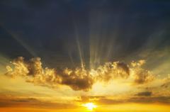 sunrise sky - stock photo