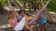 Stock Video Footage of Family in hammock, Costa Rica