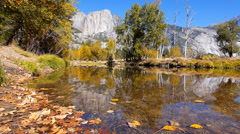 Yosemite National Park in Spring Stock Footage