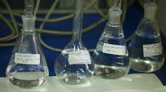 Laboratory glassware Stock Footage