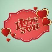 Saint valentine's day card Stock Illustration