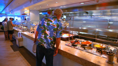 Cattering at the buffet Stock Footage
