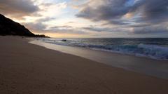 Sunset at the Beach Hawaii Stock Footage