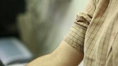 Blood pressure exam Stock Footage