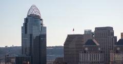 Great American Insurance Group building in Cincinnati 4k Stock Footage