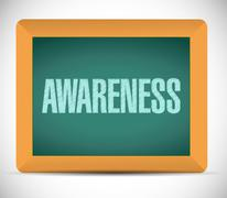 Awareness sign message on a board. illustration Stock Illustration