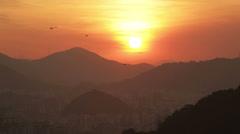 Sunset. Landscape. Stock Footage