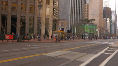 San Francisco Drive By Montgomery Market St People and Traffic Stock Footage