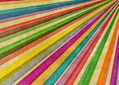 Stock Illustration of multicolor sunbeams grudge background
