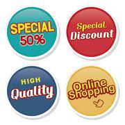 online shopping illustration design - stock illustration