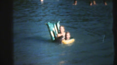 1950's & 60's  vintage, buoyant swimmers Stock Footage
