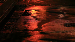 Rain in the street. Stock Footage