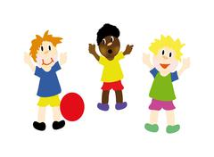 happy kids - stock illustration
