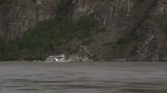 Side Paddlewheeler Steamboat Yukon River Dawson City Canada Stock Footage