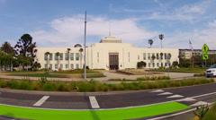 Wide Shot Santa Monica City Hall- Santa Monica California Stock Footage