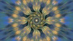 Spiral Twist Groovy Hypno Chakra Kaleidoscope - stock footage