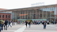 Manufaktura, Lodz, Poland. Largest shopping and entertainment center in Poland Stock Footage