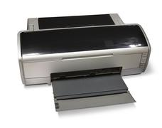 ink-jet printer A3 - stock photo