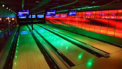 Bowling facility Stock Footage