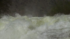 Super Slow Motion Tumultuous Gushing Waterfall Close Stock Footage