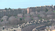 Stock Video Footage of Elevated view of west end of Dundee and Tay Estuary Scotland