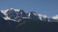 Stock Video Footage of Timelapse Clouds over Jagged Chilkat Mountain Craggy Peaks in Alaska