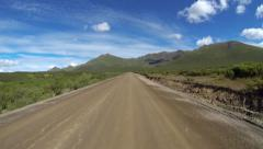 Timelapse Driving POV Dempster Highway Mountains Yukon Territory Canada Stock Footage