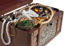 Closeup of Treasure chest Stock Photos