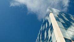 Time lapse: modern architecture, sky, clouds and copy space. Stock Footage