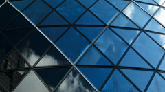 Time lapse: blue sky architecture Stock Footage