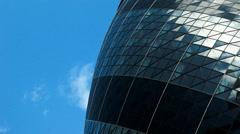 Time lapse: detail of The Gherkin skyscraper, London, UK. Stock Footage