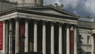 Stock Video Footage of Trafalgar Square - National Gallery entrance 4K