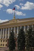 lipetsk, house of soviets (building of administration of lipetsk region) and  - stock photo