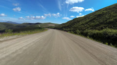 Top of the World Highway Yukon Canada 3 Stock Footage