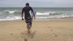 SLOW MOTION: Gone surfing Stock Footage