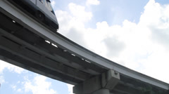 Electric Train-mass transportation Stock Footage