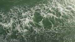 Wake of Ship Starboard Side Looking Down Bow Wave (normal speed) Stock Footage