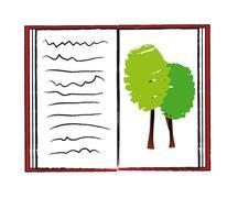 Ecology book Stock Illustration