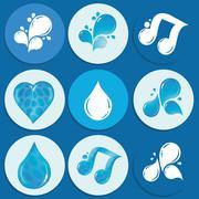 mineral water icon design - stock illustration