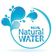 Mineral water icon design Stock Illustration