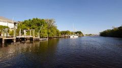 Idyllic lake Everglade City Stock Footage