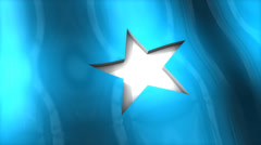 3D flag, Somalia, waving, ripple, Africa, Middle East. Stock Footage