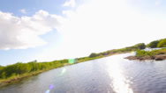 Stock Video Footage of thrilling airboat ride through the Everglades