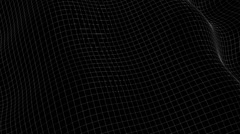 Wavy 3D grid, cloth, line, render, wave. Stock Footage