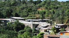 El Salvador Neighbourhood Pan Stock Footage